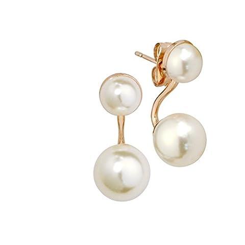 Korean Mesdames faux Pearl boucles d'oreilles/ oreille ornements cute girl