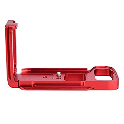 Jadpes Quick Release Bracket Durable Quick Release L-Shaped Plate Camera Bracket Mount Vertical Grip for SNY A7M3 A7R3 Electric Trolling Motors Red
