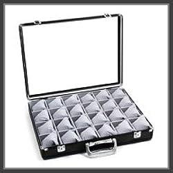 edler Uhrenkoffer für 24 Uhren mit Kissen Uhrenbox