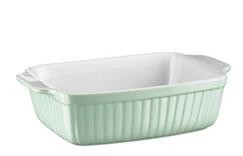 Mäser 931485 - Pirofila rettangolare serie Kitchen Time, ideale anche per lasagne, come piccolo stampo per dolci e tiramisu, in ceramica, antigraffio e anti-taglio