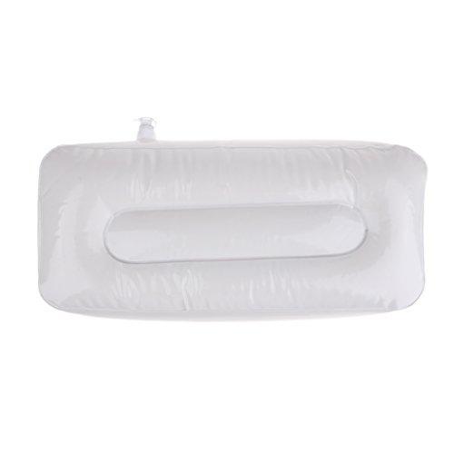 Homyl cuscinetto rettangolare gonfiabile, cuscino di viaggio, cuscino supporto della testa per rafting, barca, pesca sportiva