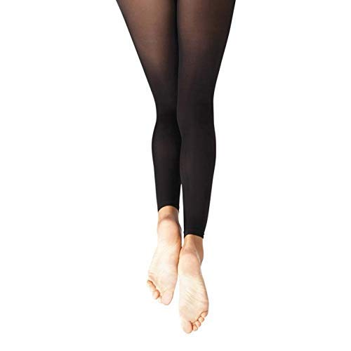 Capezio Damen Essential Footless Tight Strumpfhose, Classic Ballet Pink, S-M (Rosa Footless Tights)