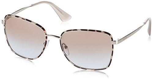 Prada Damen 0PR52SS 1AB0A7 58 Sonnenbrille, Schwarz (Black/Pale Gold/Grey),