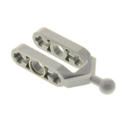 1 x Lego Technic Rad Kugelgelenk Gabel alt-hell grau klein Achs Aufhängung Stein Technik Lenkung Set 8455 4404 6572 ()