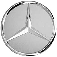 Mercedes-Benz Original AMG radnabenabdeckung Diámetro Aprox. 74–75mm Negro/Plata/Corona Laurel/AMG radnabenabdeckungen Buje Tapa