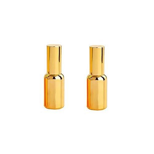 0.5 Unze Parfum Spray (2 STÜCKE 15 ML 0.5 UNZE Leere Nachfüllbar Vergoldet Feinnebel Sprayer Flasche Parfüm Ätherisches Öl Aromatherapie Verpackung Glas Phiolenhalter Kosmetikbehälter)