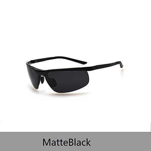 LKVNHP Neue Hochwertige Sport-Sonnenbrille Hochwertige Polarisierte Sonnenbrille Männer Frauen Sonnenbrille Driving Sol Hipster EssentialMatteblack
