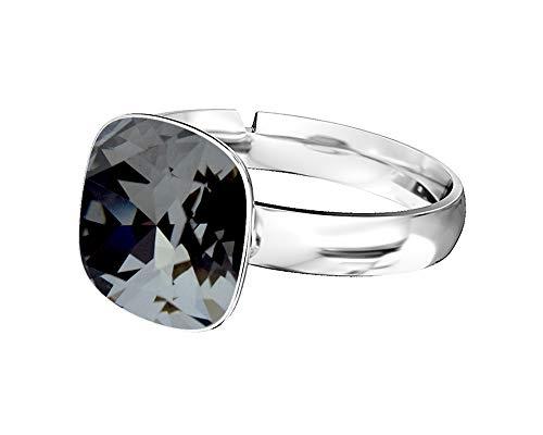 1dc9e3d0ec1d8e Crystals & Stones 925 anello d' argento *Square* *Molti colori* Swarovski