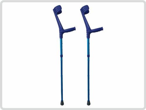 Unterarmgehstützen Gehhilfen Krücken faltbar 1 Paar (links und rechts) Leichtmetall Farbe: Blau *Top-Qualität zum Top-Preis* - Faltbare Krücken