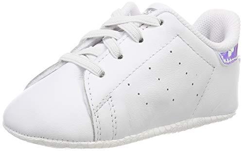 Adidas Stan Smith Crib, Zapatillas Unisex bebé, Blanco Footwear White/Footwear White/Silver Metallic...