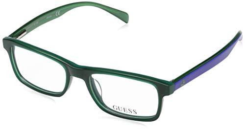 Guess Unisex-Erwachsene GU9162 096 47 Brillengestelle, Grün (Verde Scuro Luc),