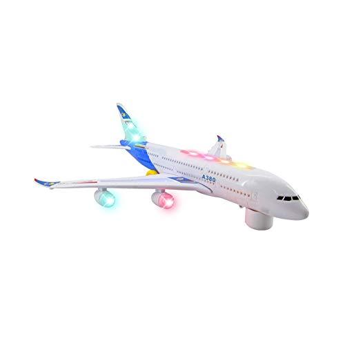 Aereo elettrico giocattolo di plastica dell'aeroplano modello di giocattoli per bambini intelligente con illuminazione e suono 1 pc