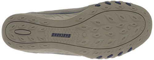 Skechers Breathe-easy-just Relax, Chaussures De Tennis Donna Beige (stone / Navy)