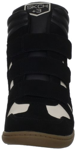 Skechers Plus 3 Raise Your Glass 48093, Sneaker col tacco donna Nero (Schwarz (BKNT))