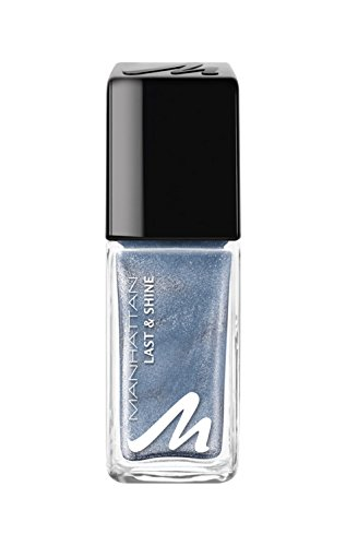 Manhattan Last & Shine Nagellack, Nr.900 Blue Wave, 1er Pack (1 X 10 ml)