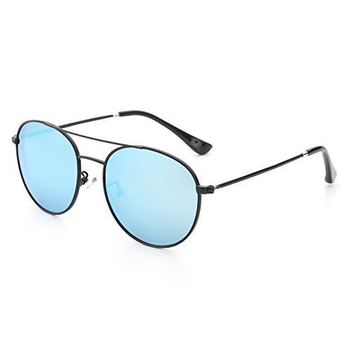 Yiph-Sunglass Sonnenbrillen Mode Kindersonnenbrille Metall Frosch Spiegel Mode Flut Sonnenbrille (Color : Blue)