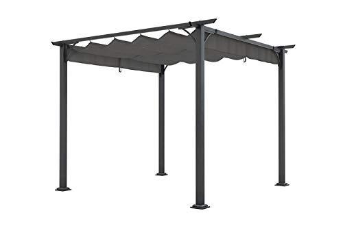 Pergola Pavillon aus Stahl 3 x 3 m mit Stoffdach verschiedene Farben auswählbar