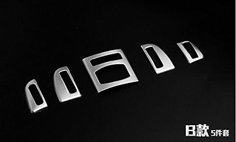 Edelstahl Innen Mitte Konsole Air Vent Outlet Rahmen Trim 13Teile für BMW 5Serie F102011–2015