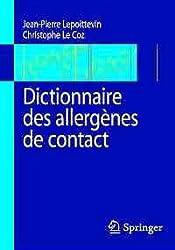 Dictionnaire des allergènes de contact.