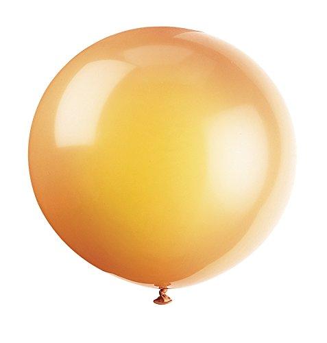 unique-party-56738-palloncini-giganti-in-lattice-arancio-agrume-da-90-cm-confezione-da-6