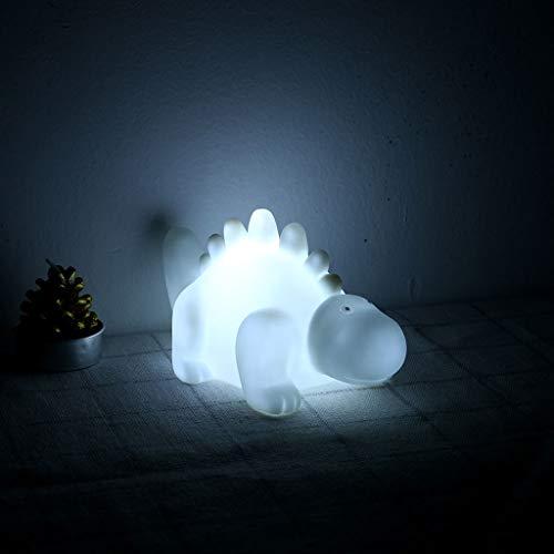 TianranRT Cartoon LED Mini Dinosaurier Lampe Kind Klein Nacht Licht Startseite Dekorieren Neu (Weiß)