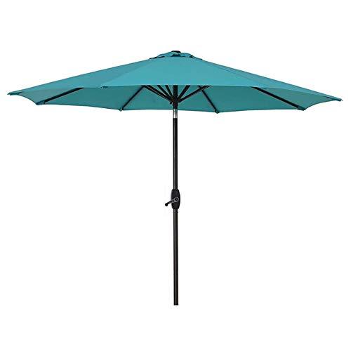 Sonnenschirme Gartenschirm 9ft Außenterrasse Gartentischschirm mit Neigungsverstellung, Perfekter Außenbereich, kommerzieller Veranstaltungsmarkt am Strand, Camping, Schwimmbad (Lake Blue) (Ft 9 Sonnenschirm)