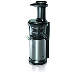 Panasonic Slow Juicer Sistema di Estrazione, Senza Lame, Accessorio Ricette di Frutta Ghiacciata
