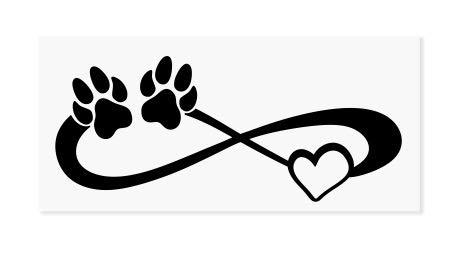 Dog Paws Herz???Dogs on Board, PET Welpen, Animal Hochwertiger Kleber Pfoten golden Window Vinyl Aufkleber Aufkleber Hund