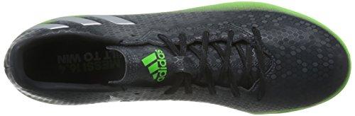adidas Messi 16.4 Tf, Scarpe da Calcio Uomo Grigio (Dark Grey/Silver Met./Solar Green)