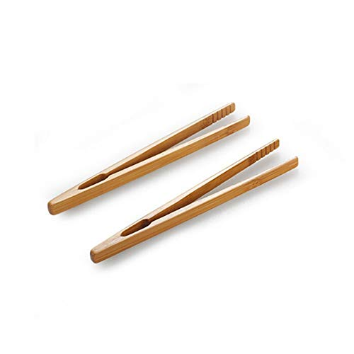Bamboo Serving Tong (Tea Clips - 2pcs Bamboo Wood Toast Tea Clip Tong Wooden Squeezer Toaster Bagel Bacon Sugar Ice Tongs - Clips Clips Bamboo Tray Spoon Breakfast Sausages Bonsai Combos Storage Cooks Toaster Plan)