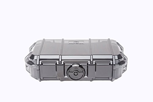 Seepferdchen-Schutzkoffer, Translucent Gray (Hard Pelican Mini Case)