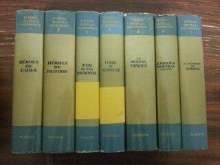 EPISODIOS NACIONALES CONTEMPORANEOS. 7 TOMOS. TOMO 1. HEROES DE CUBA - TOMO 2. HEROES DE FILIPINAS - TOMO 3. FIN DE UNA REGENCIA - TOMO 4. LA BODA DE ALFONSO XIII - TOMO 5. LA SEMANA TRAGICA - TOMO 6. ESPAÑA NEUTRAL (1914 - 1918) - TOMO 7. EL DESASTRE DE ANNUAL.