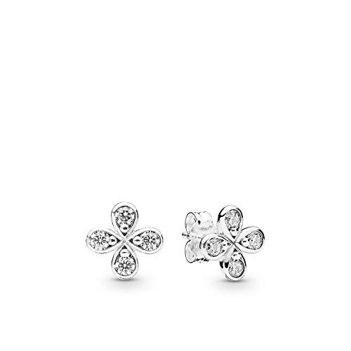 20 - Pandora Pendientes de botón Mujer plata - 297968CZ