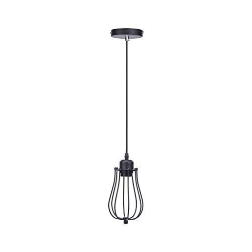 Lightess Vintage Style Industrial Celling Light Black