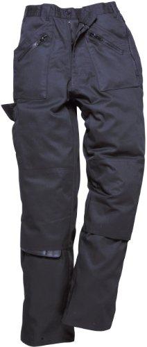 Pantaloni da lavoro, da donna, numerose tasche con cerniera, rinforzo sulle ginocchia (S687), nero, S687BKRL