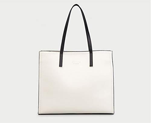WLQNAME Borsa da donna, elegante borsa for pendolare versatile e minimalista, borsa tote con cerniera diagonale a una spalla for una grande capacità (Colore : Grayish white, Taglia : 34 * 28 * 11cm)