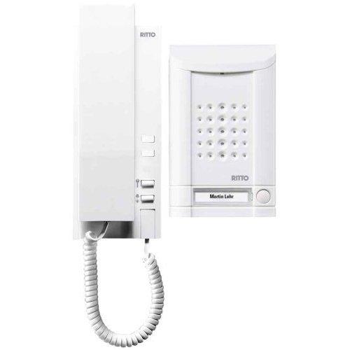 Türsprechanlage Set (Ritto 1673170 Minivox Wohntelefon-Set 1WE weiss)