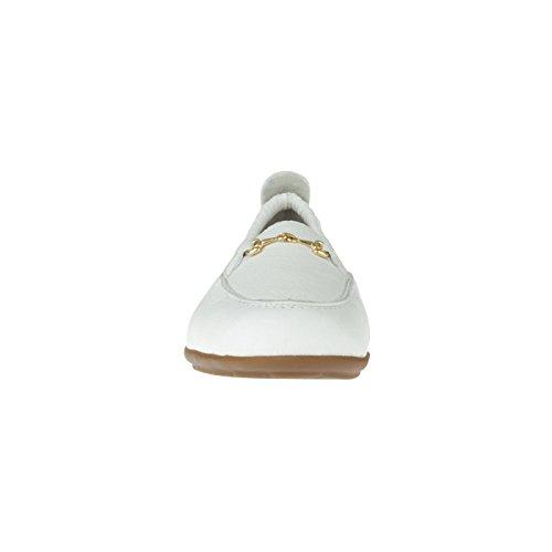 tessamino Damen Mokassin aus Hirschleder mit Applikation, elegant, Weite H, für Einlagen Weiß