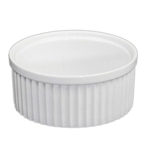 Holst Porzellan RA 114 Pasteten-, Souffléform & Ramequin 16 cm, weiß, 16.5 x 16.5 x 7 cm Form Ramekin