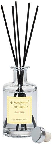 RITZENHOFF Aroma Naturals Luxury Diffusor, Glas, Schwarz, Gelb, Klar 7 x 7 x 14.5 cm
