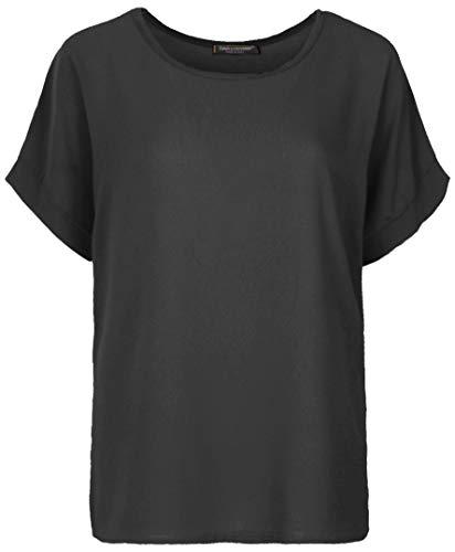 Emma & Giovanni - T-Shirt/Oberteile Kurzarm Segelstoffe - Damen (Schwarz, XL/XXL)