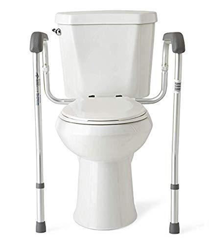 XKRSBS Anhebender Toilettensitz Toilettensicherheitsarmlehnen-Badezimmer-Sicherheits-Rahmen Höhenverstellbares Bein Badezimmer-Sicherheit