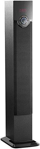 auvisio ZX1563 Turm-Lautsprecher mit Bluetooth, USB-Anschluss & SD-Slot, 40 Watt, Schwarz