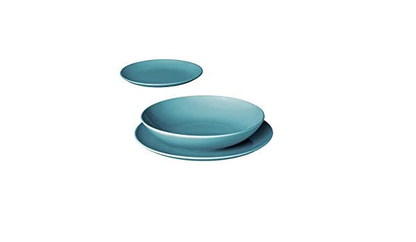 24cm IKEA FÄRGRIK Tiefer Teller in hellgrün; aus Steinzeug; Speiseteller