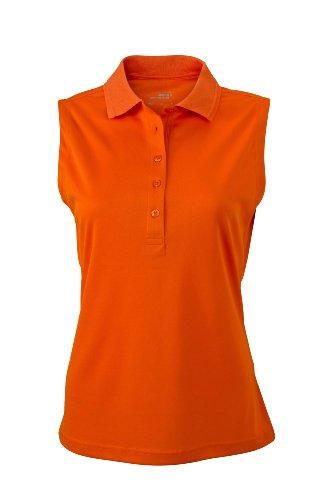 Ladies' Active Polo Sleeveless | dark-orange | XL im digatex-package -