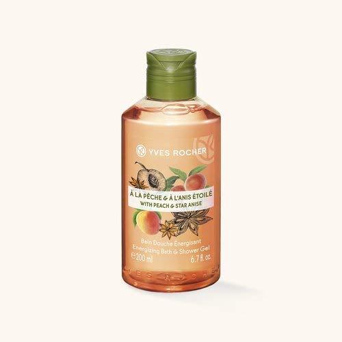 Yves Rocher LES PLAISIRS NATURE Duschbad Pfirsich-Sternanis, Aroma-Schaumbad & pflegendes Duschgel, 1 x Flacon 200 ml -