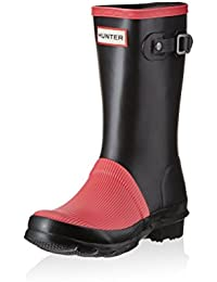 Hunter Botas de agua Orig Kids Ribbed Toe Negro / Fucsia EU 30/31 (UK 12)