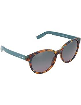 Boss Orange Unisex-Erwachsene Sonnenbrille 0195/S Qc, Schwarz (Hvgrnspt Ptr 7kq), 55