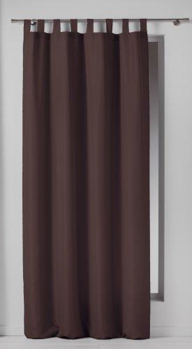 Douceur d'interieur douceur d'intérieur 1600525 tenda oscurante con passanti in poliestere, 140 x 260 cm, colore: cioccolato