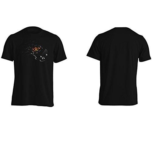 Cranio Schiacciamento Arte Divertente Della Novità Uomo T-shirt a432m Black